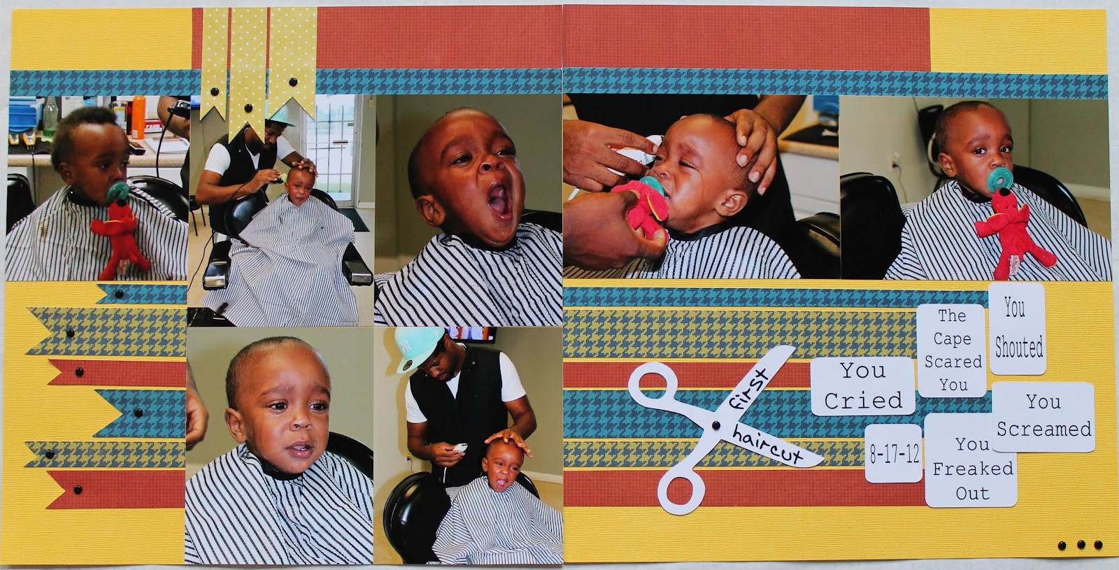 The Scrapbook Diva Kadens First Haircut