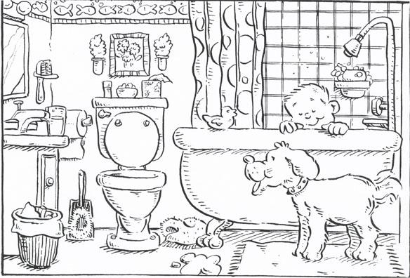 B+W Kid in Tub