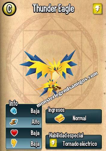 imagen de las caracteristicas de thunder eagle
