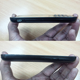 BlackBerry Q5 tampak samping