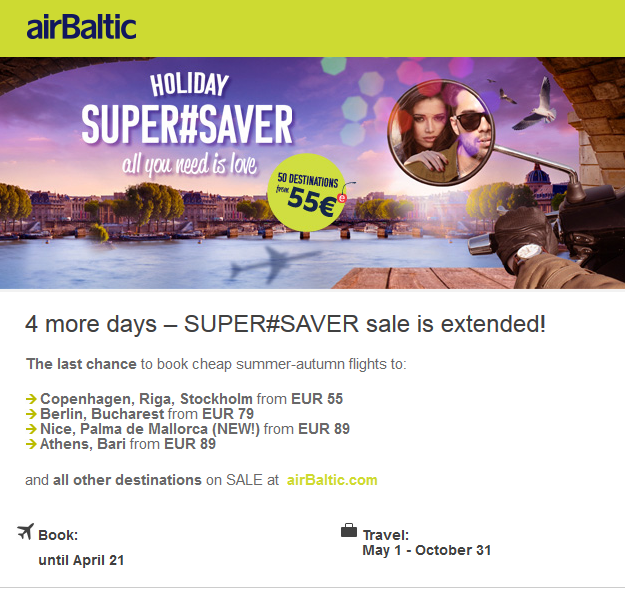 Air Baltic sale