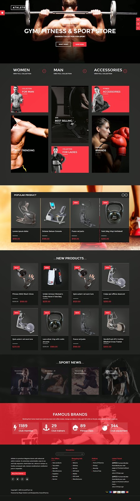 Best Sports Store Magento Theme