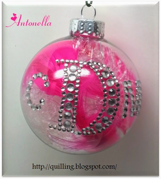 Gorgeous Monogram Ornament tutorial Antonella at www.quilling.blogspot.com
