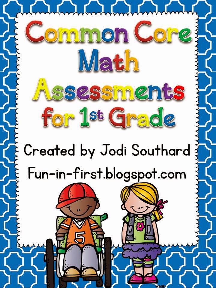 http://www.teacherspayteachers.com/Product/Common-Core-Math-Assessments-for-1st-Grade-270859