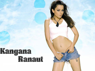 Kangna Ranaut Hot Denim Shorts