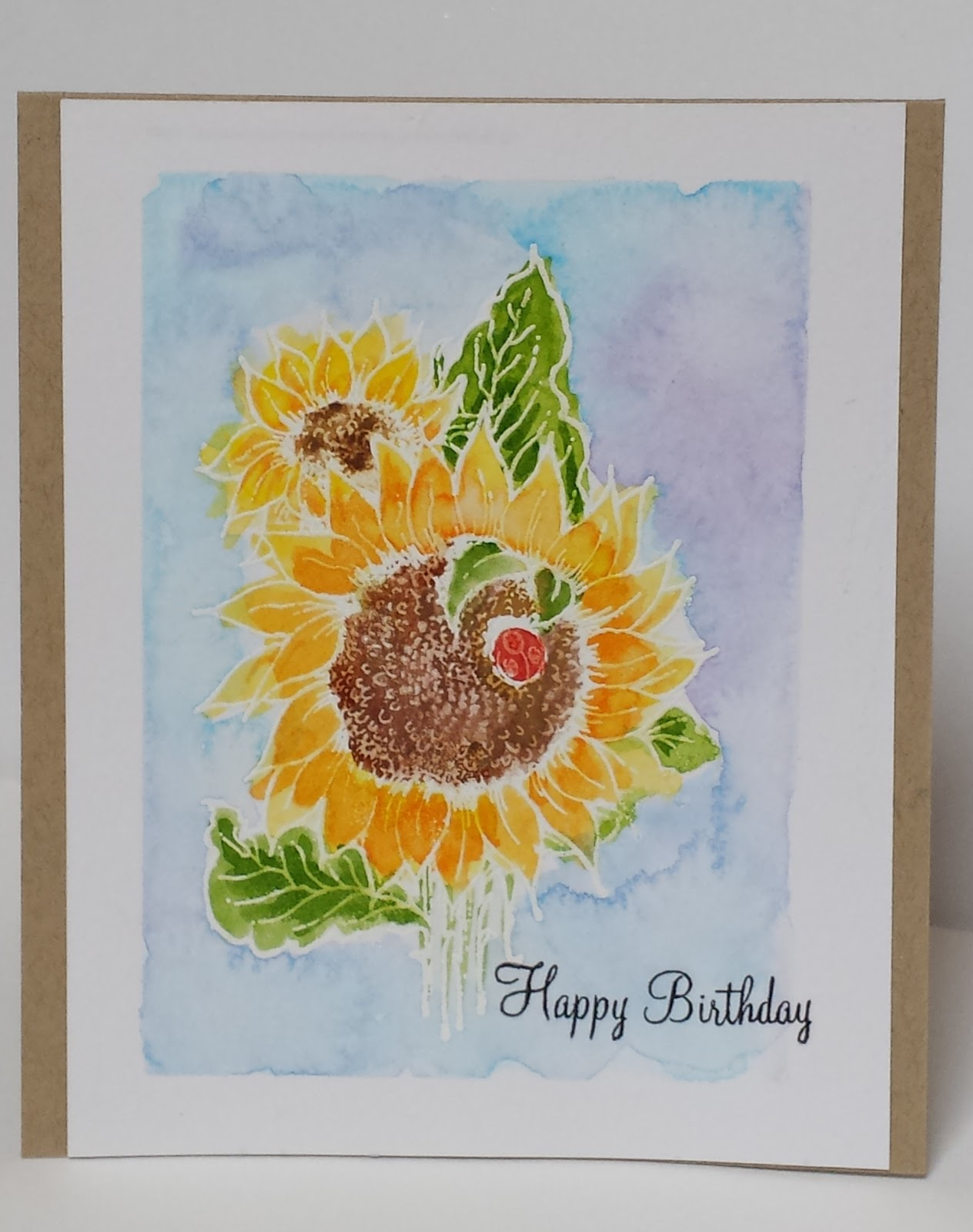 online card classes watercolor