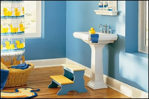 Duck Bathroom Decor Ideas : Yellow rubber duck theme bathroom decorating ideas g