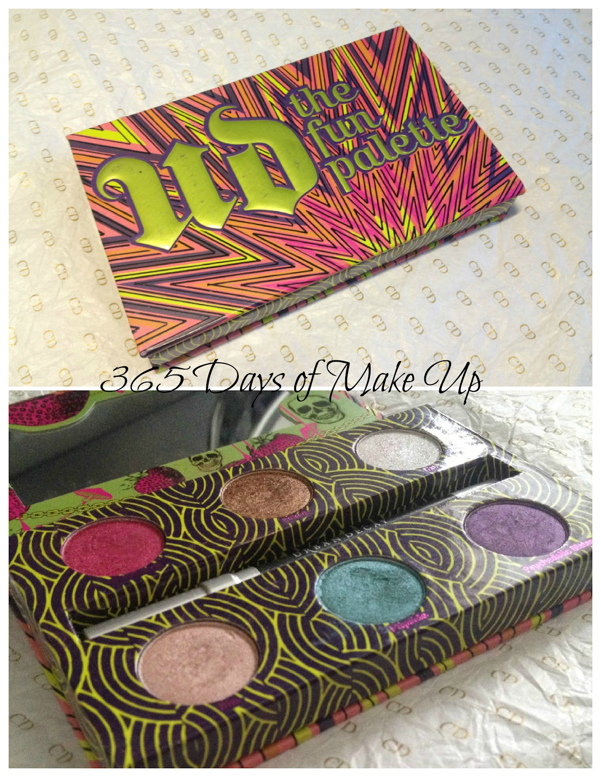 365 days of make up day 51 urban decay fun palette review swatches