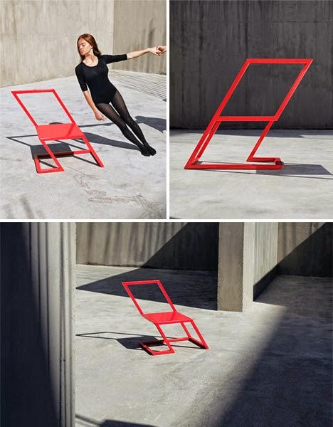 Gambar Meja Kursi Unik Minimalis Bergaya Vertigo Oleh XYZ Integrated Architecture 4