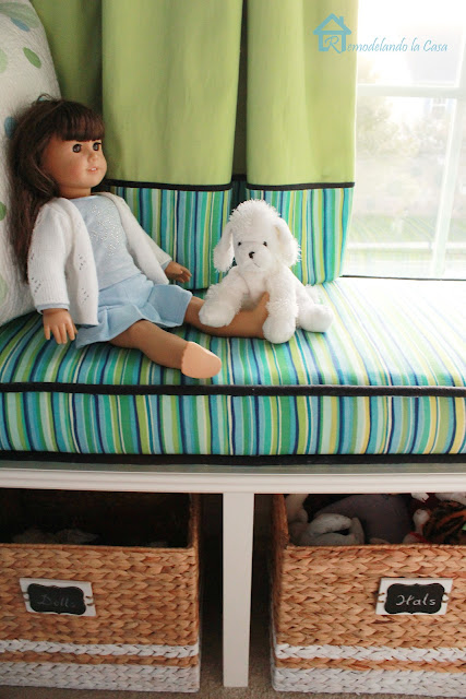 Samantha Parkinton doll on window bench.