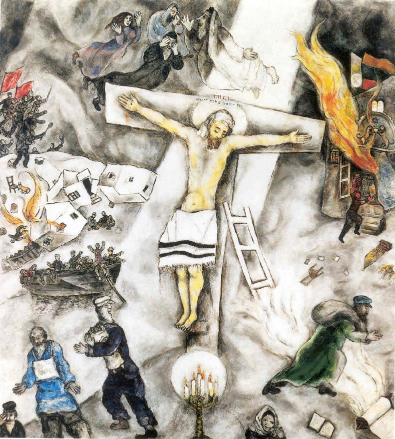 Words Half Heard: April 2012 Marc Chagall White Crucifixion