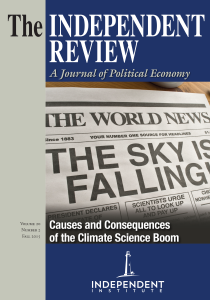 Fall 2015 Issue of The Independent Review: Lakatos' research cited