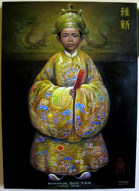 Painting of Nguyen Emperors, nguyen kings by photos, Emperors of Annam under Nguyen Dynasty