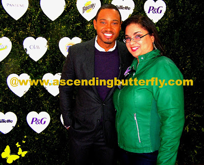 Left: Terrence Jenkins of E!Online News and Right: Ascending Butterfly at #PGmostloved Tweet Up Event in New York City