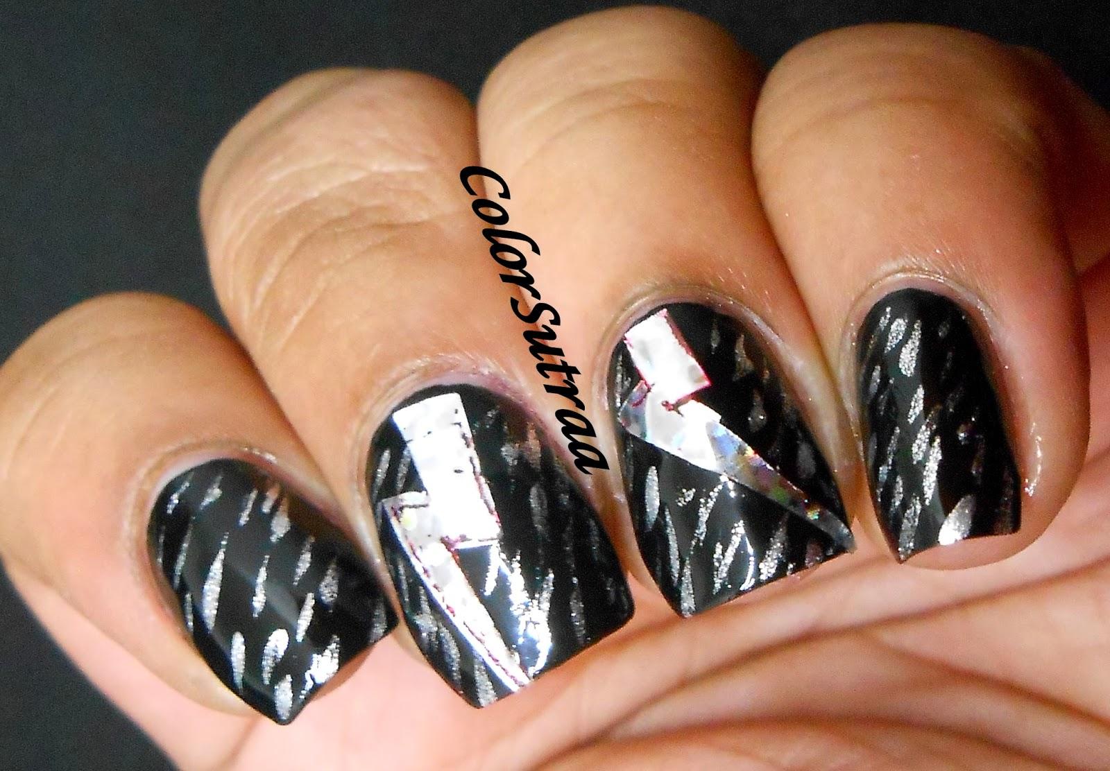 SALON PERFECT : Easy Nail Art Look created using Basic Black on ...