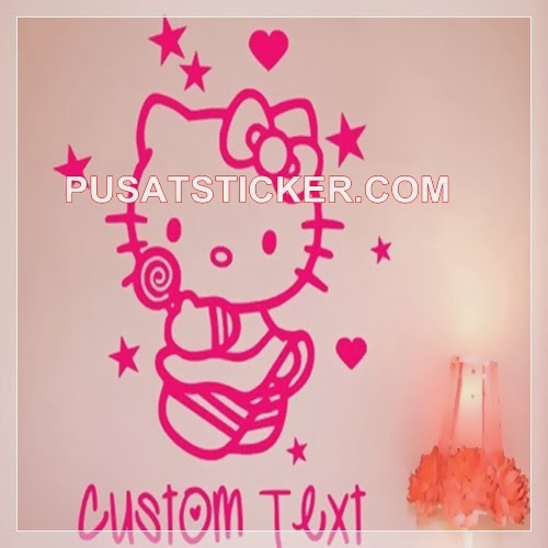 Wall sticker hello kitty custom text
