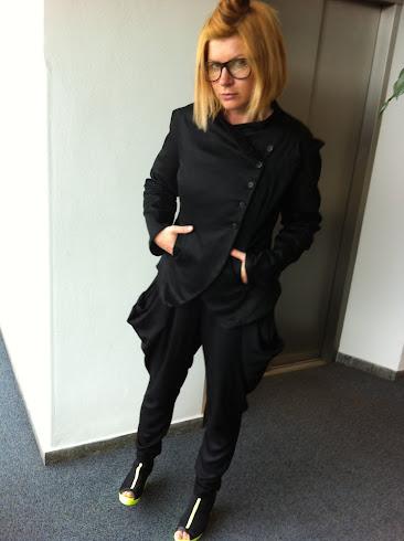 blazer black strechsatin