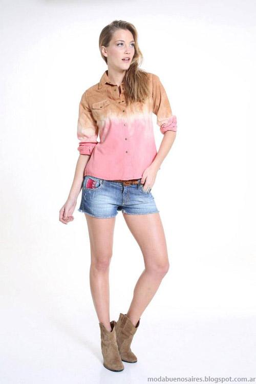 Riffle Jeans camisa primavera verano 2014.
