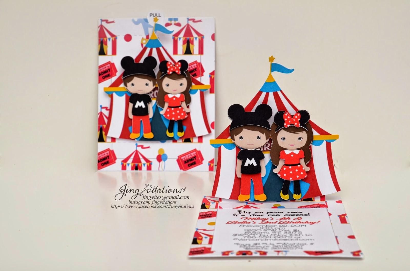 handmade circus invitaciones