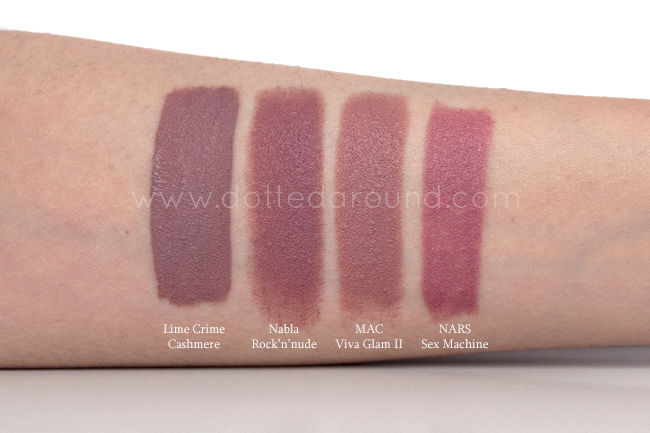 Nabla Rock n Nude swatch rossetto lipstick