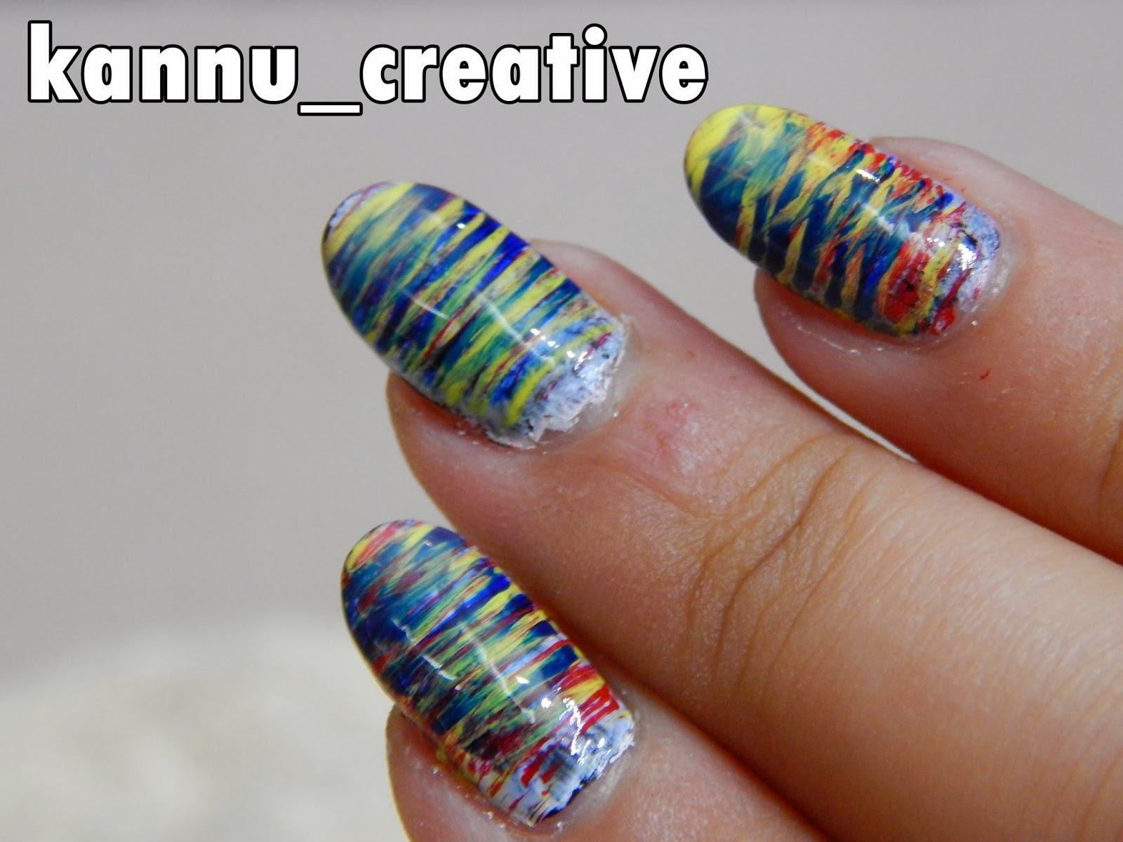 NAIL ART: FAN BRUSH TECHNIQUE – Her Creative Palace