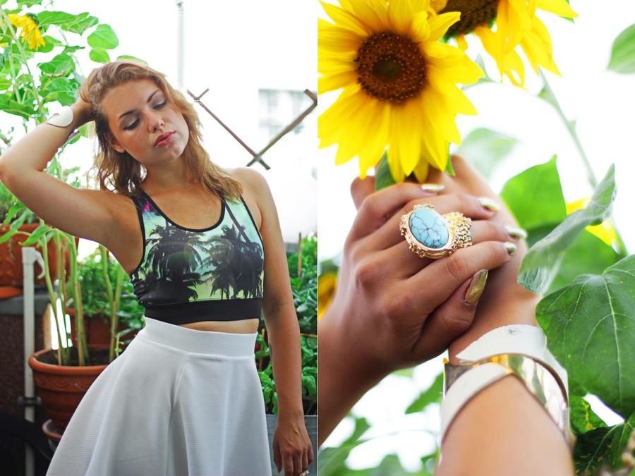 sun flower look fashion