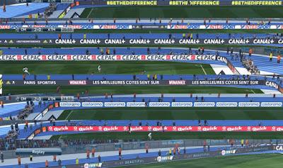 PES 2016 Olympique de Marseille Stade Velodrome adboards by everest9