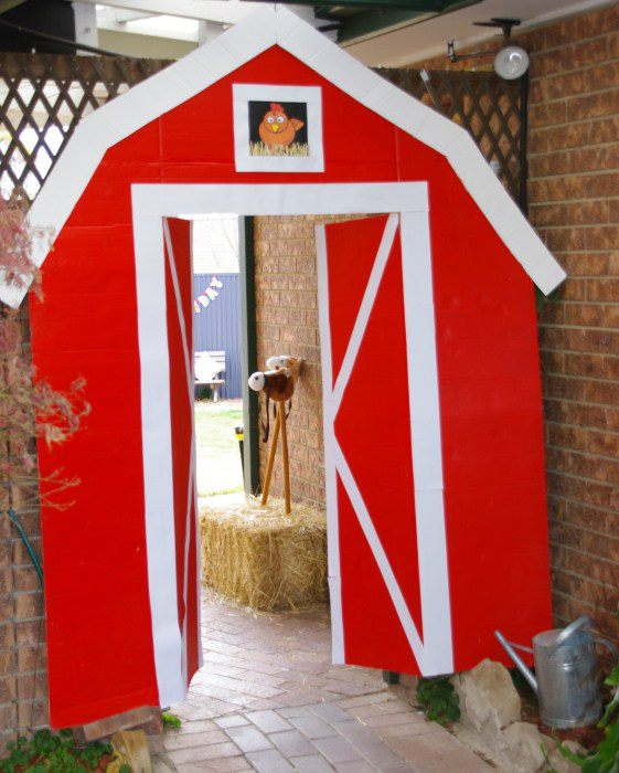 Little big company the blog farmyard party by party for Farm door ideas