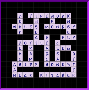 Binweevils Crossword Answers Level 3 - General (Part ONE)