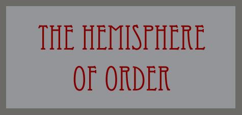 The Hemisphere of Order word banner
