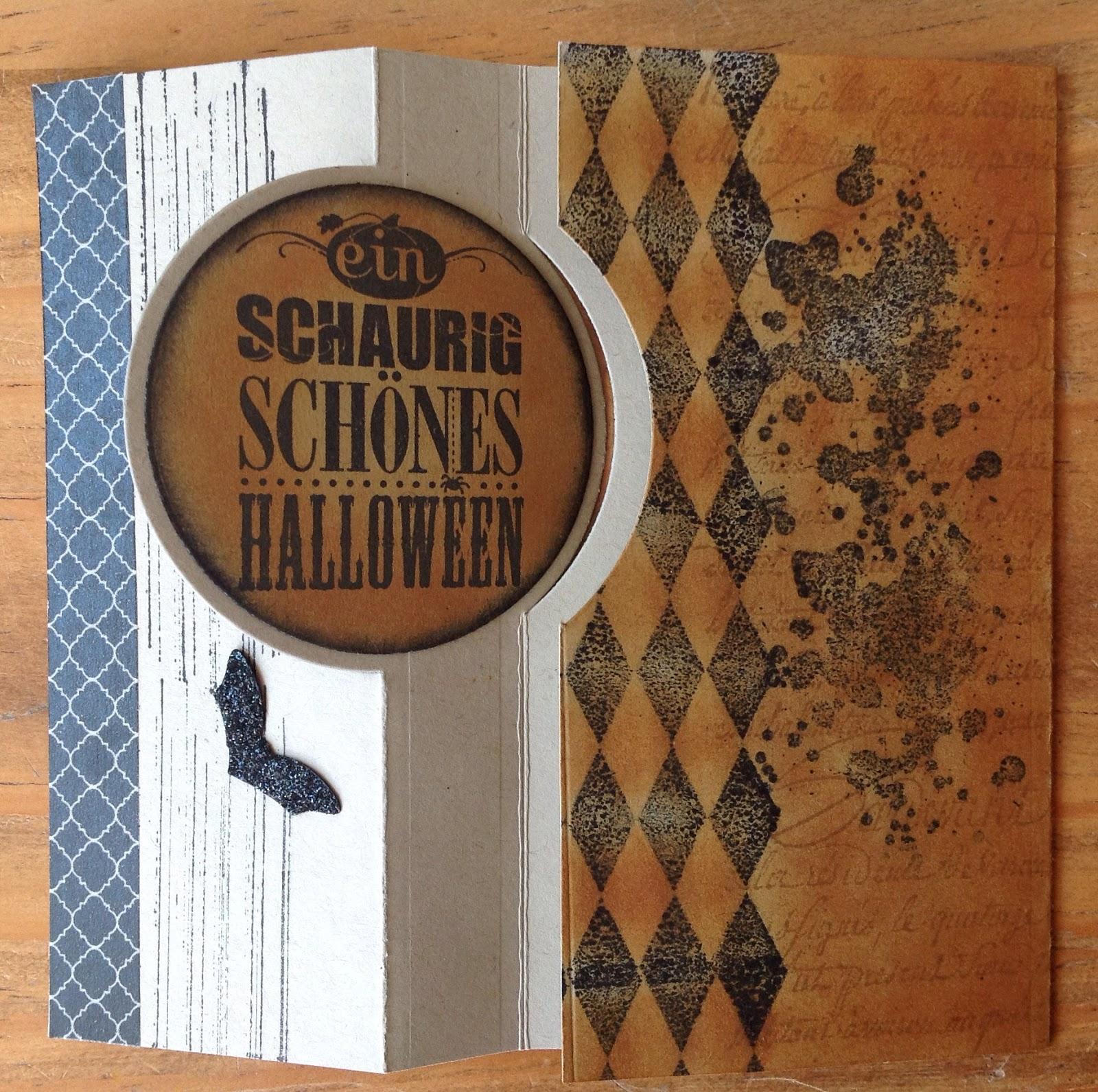 Halloweenkarten mit Stampin`up, La Blanche, Pop-up Karte