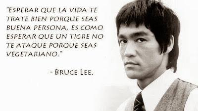 Bruce Lee, Esperar que la vida te trate bien
