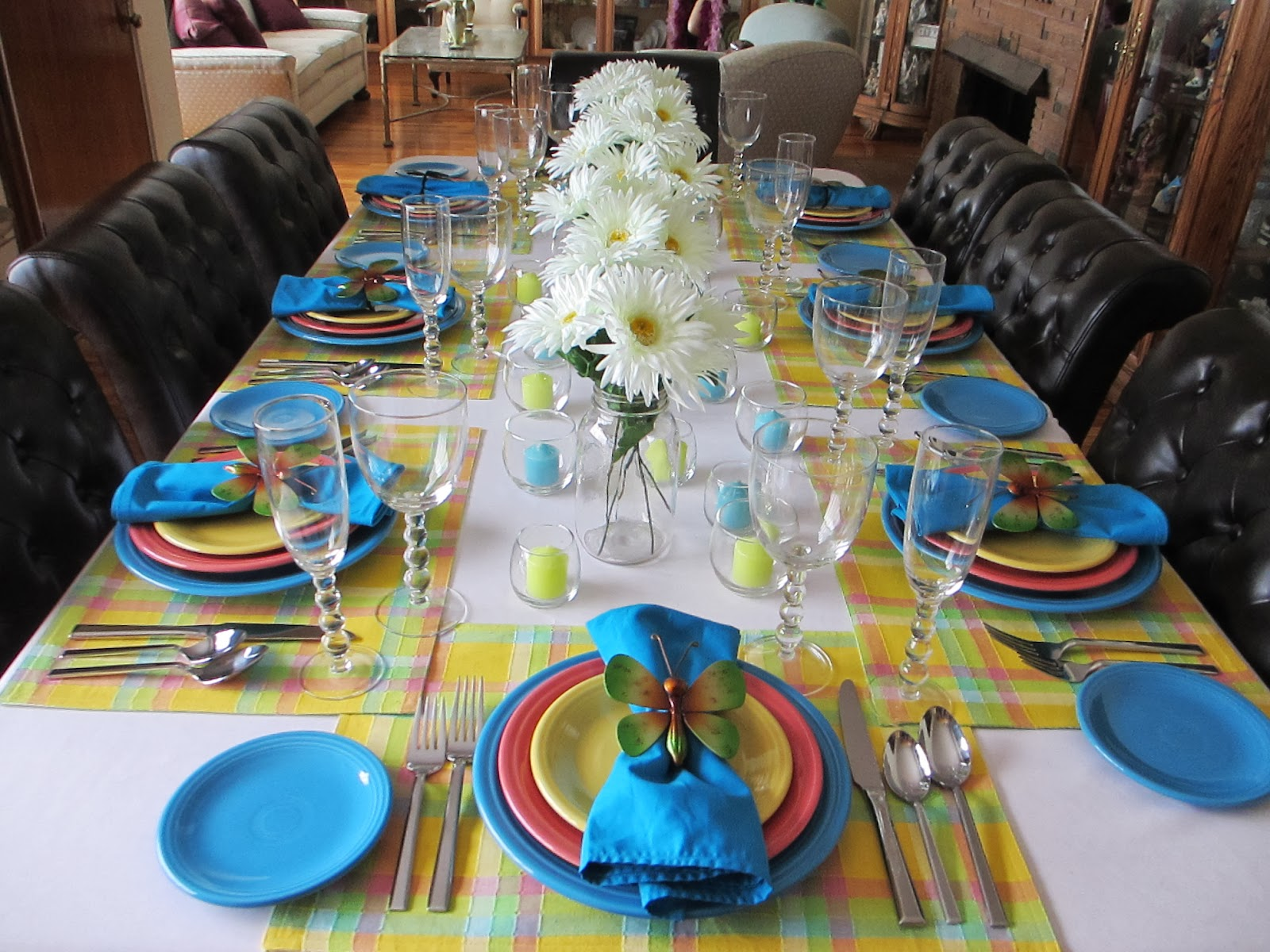 Over view of the table & The Welcomed Guest: Summertime Fiesta Dinnerware Tablescape