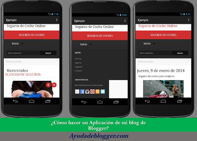 ¿Cómo crear una aplicación de mi blog de Blogger?