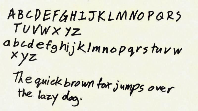 Sample Handwriting
