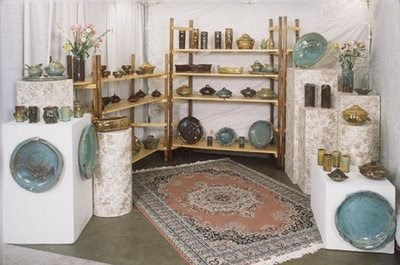 Fine mess pottery booth ideas for Display walls for art shows
