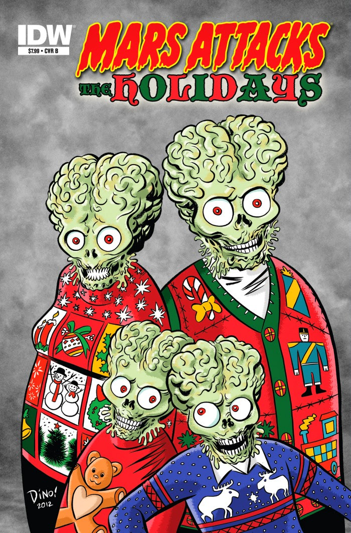 Mars Attacks the Holidays cover b