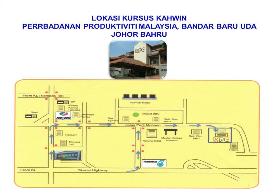 Peta Lokasi Kursus Johor Bahru