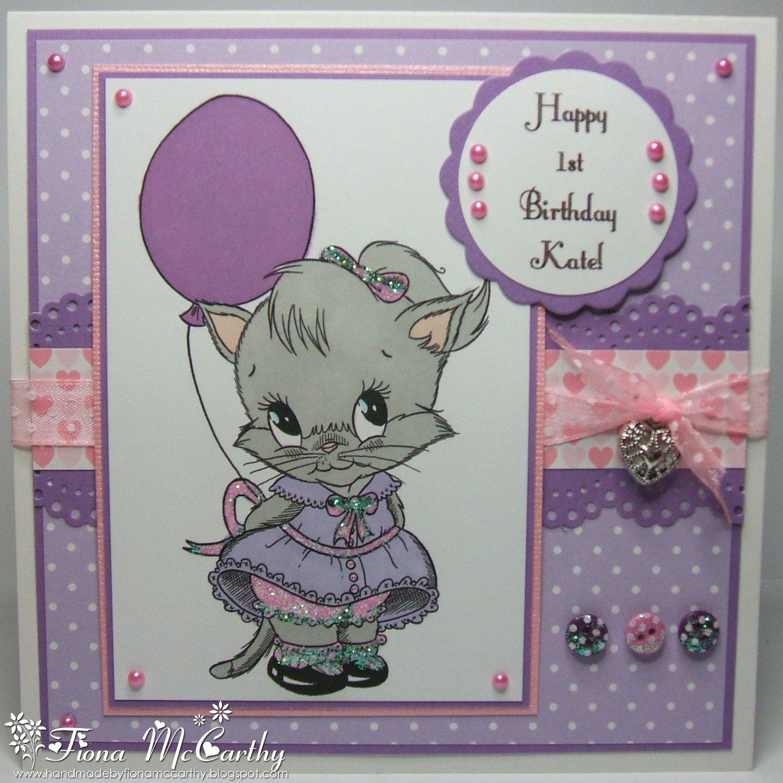 Handmade by fiona mccarthy kates st birthday card