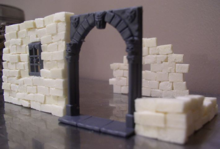 Warp lib modelisme construire une maison medievale for Monter un mur en brique