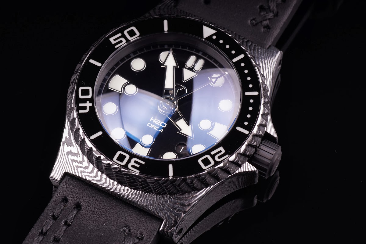 ZELOS CHROMA H2O+Watches+ORCA+Dress+STAINLESS+Damascus+STEEL+03
