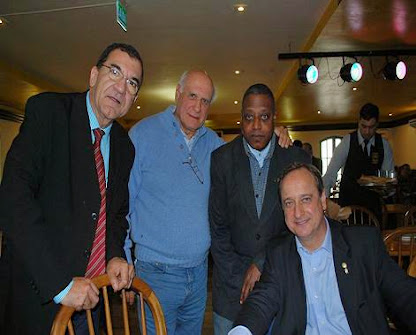 Jornalistas,Flavio Pereira,Lasier Martins,e Nelson Silva,Deputado Federal Vieira da Cunha-PDT