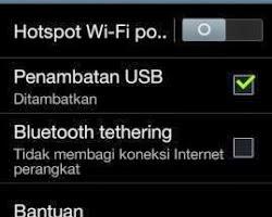 hp android Sebagai Modem USB