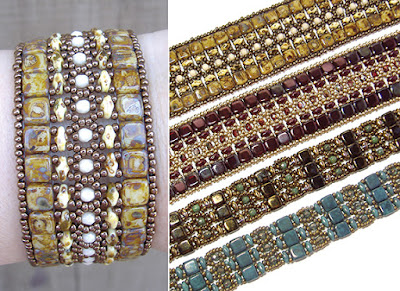Brocade Bracelets at AroundTheBeadingTable.com
