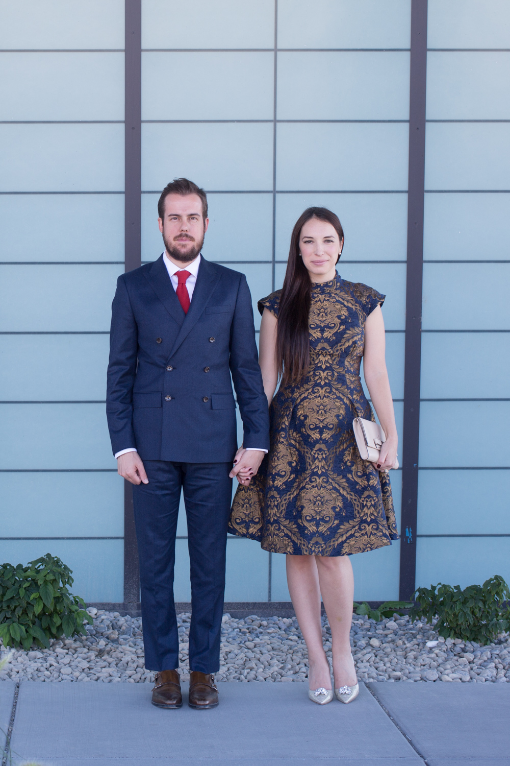 His and Her Formal Style in Navy and Gold