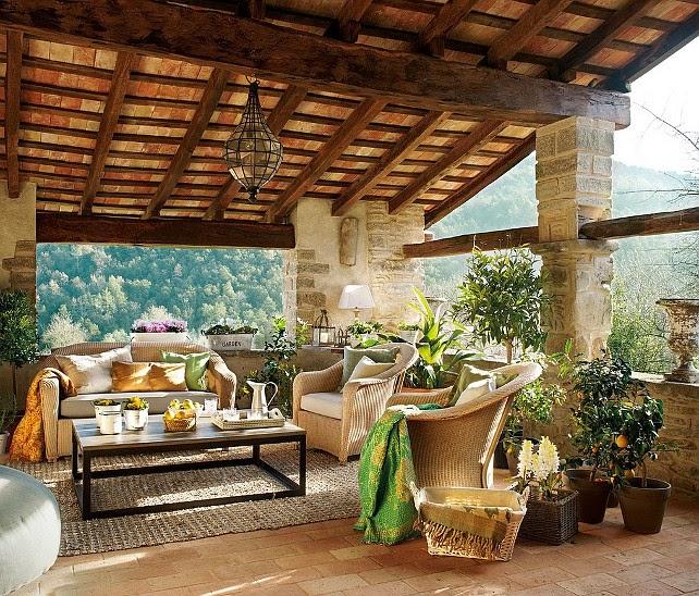 Decore com gigi casas na montanha for Terrazas rusticas en madera