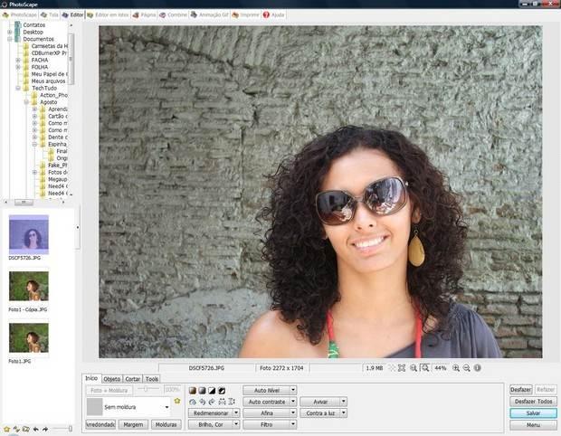 Editor de imagem gratuito Photoscape