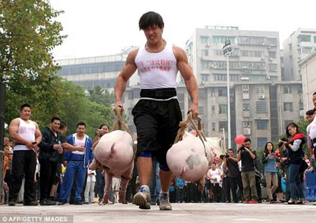 Cuộc thi xách lợn, Trung Quốc 2