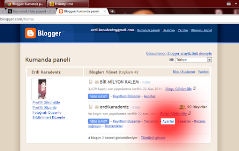 Blogger Yedek Almak