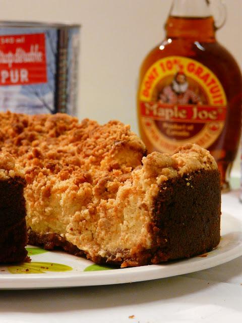 Cheesecake au sirop d'érable et crumble P1030134